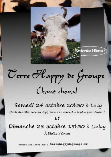 Affiche concert terre happy