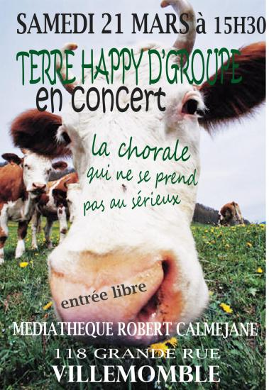 Affiche terre happy mediatheque